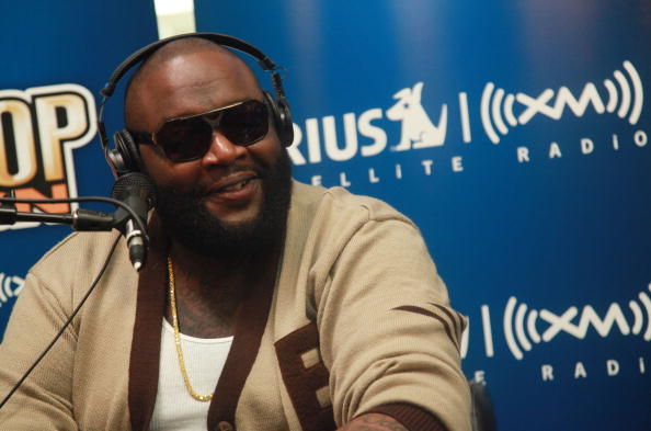NEW YORK - JULY 19: Rapper Rick Ross visits SIRIUS XM Studio on July 19, 2010 in New York City. (Photo by Astrid Stawiarz/Getty Images)