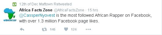 Cassper fb followers