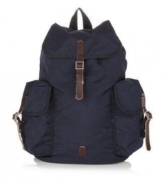 Nylon-backpack-Navy