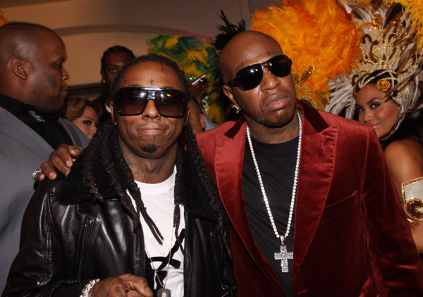 <> attend Cash Money's Pre-Grammy Party Honoring Lil Wayne at the Montage Hotel on February 7, 2009 in Los Angeles, California.