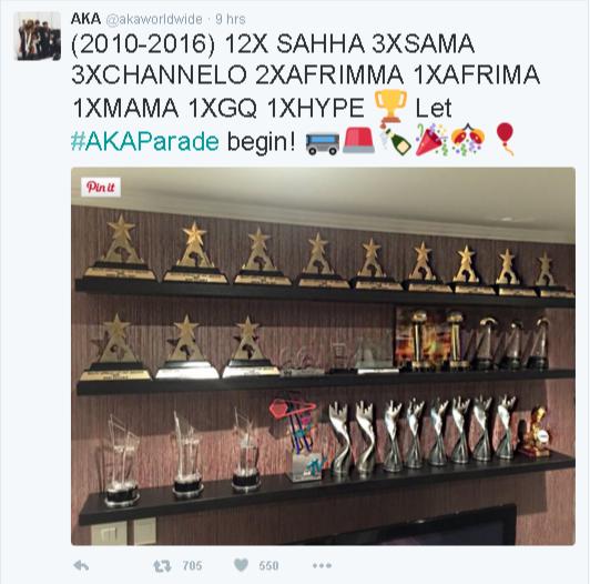 AKA trophies