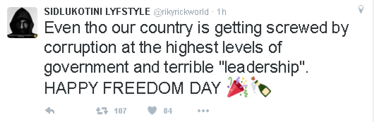 Riky Rick freedom day