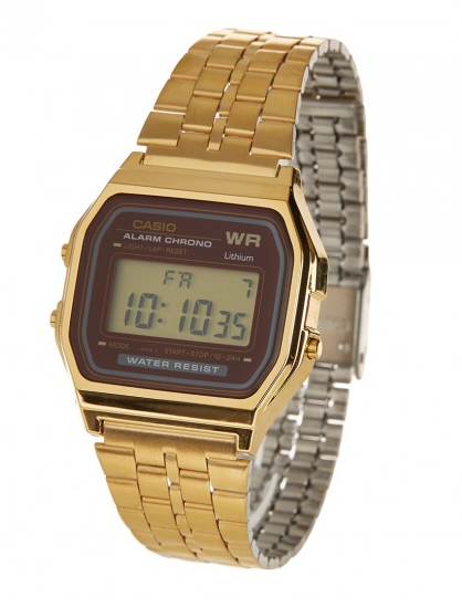 Casio gold Chrome Alarm 1/100 CHRONO Gold