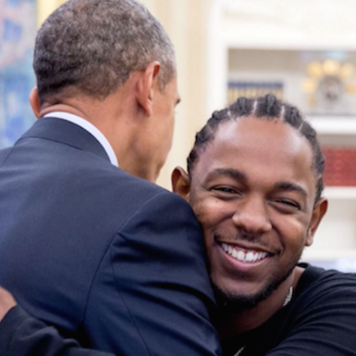 """He got to work on his jumpshot a little bit"" Says Kendrick Lamar About Obama"
