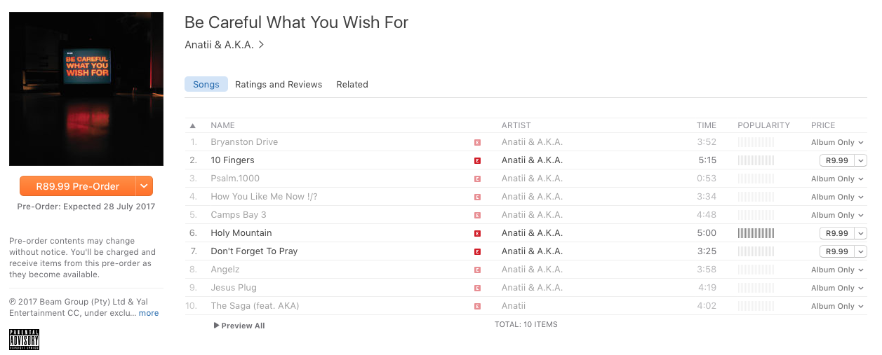 Be Careful What You Wish For Tracklist