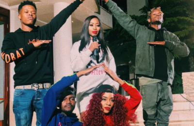 Watch Ms Cosmo, Nasty C, Kwesta & Rouge Shooting The Connect Music Video