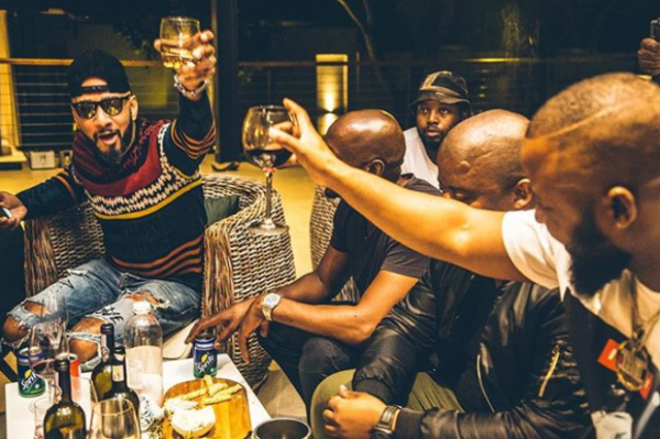 Pics! Cassper Hangs Out With Swizz Beatz At His House