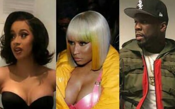 50 Cent Calls Cardi 'Most Famous Side B***h,' Reacting To Brawl With Nicki