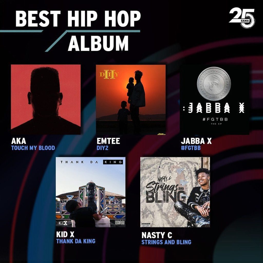Here Are The 5 Best SA Hip Hop Albums Nominated At The SAMA25