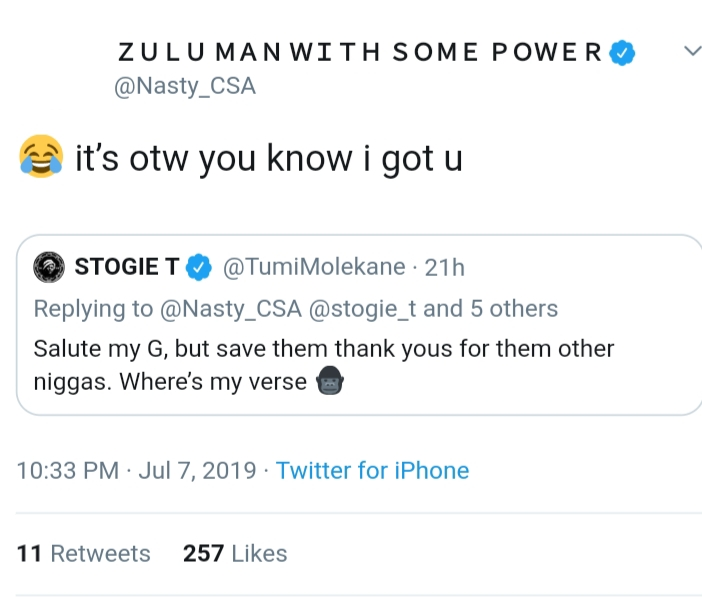 Stogie T Confirms Collaboration With Nasty C After Announcing Putting An End To Collabos 2